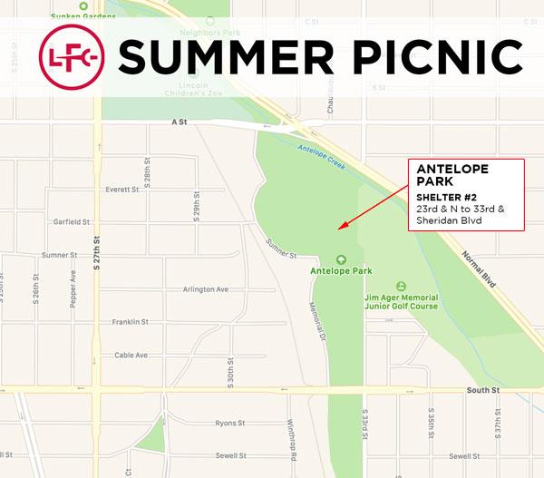 2019 LFC Summer Picnic Location