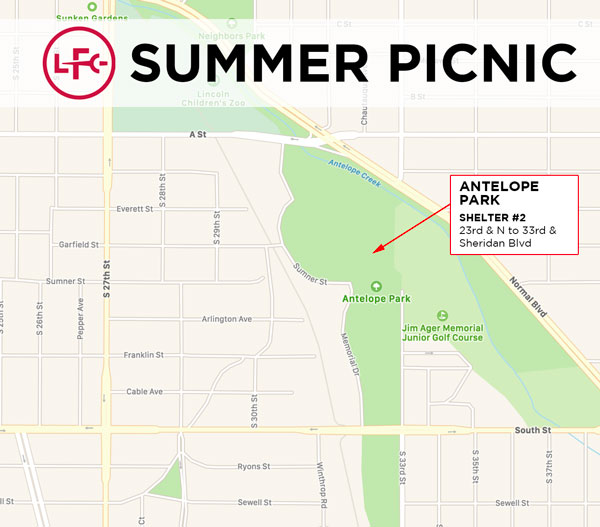 2019 LFC Summer Picnic Location